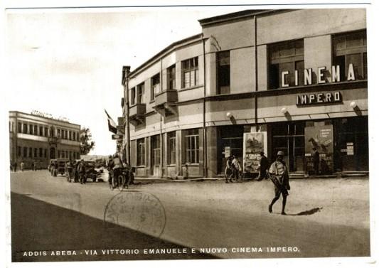 Fonds Florenzo Vannucci - Vannucci 5b_028  Cinema Impero Addis Abeba © Memorie coloniali. Légende: Elisabetta Frascaroli.