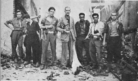 Giorgio Marincola et d'autres partisans dans le Biellese en 1944.