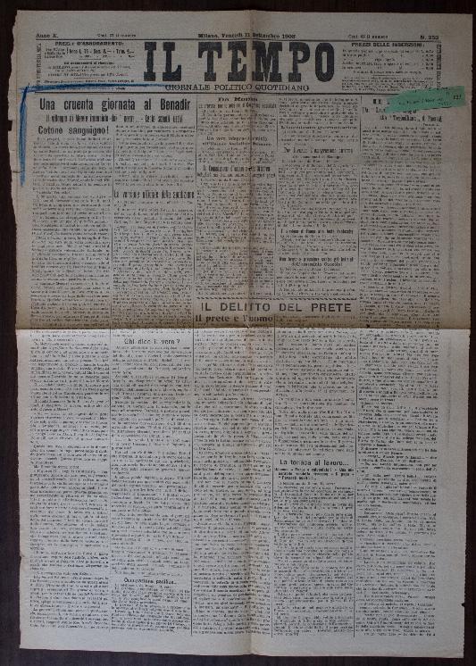L'articolo nell'archivio Robecchi-Bricchetti all'archivio storico di Pavia.