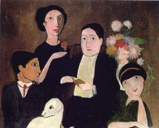 Groupe d'amis (1908), par Marie Laurencin. Musée de Baltimore.