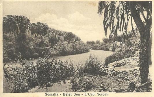 L'Ued Scebeli su una cartolina mandata nel '38.