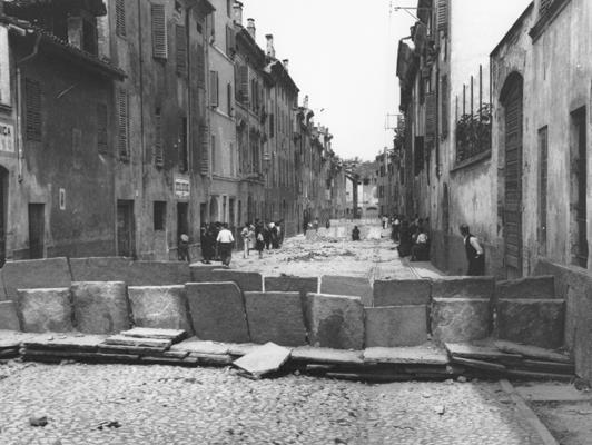 Le Barricate di Parma del 1922, in borgo Bernabei dove abitava Guido Picelli.