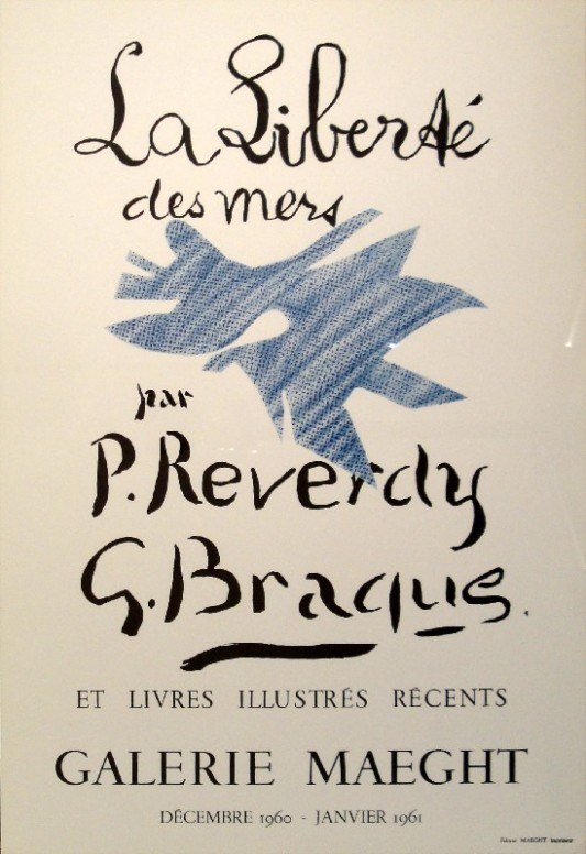 La Liberté des mers, recueil achevé en 1955, paraît l'année de sa mort en 1960 dans un numéro de la revue Derrière le miroir, illustré par Georges Braque.