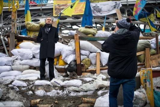Bernard-Henri Lévy, Kiev, février 2014.