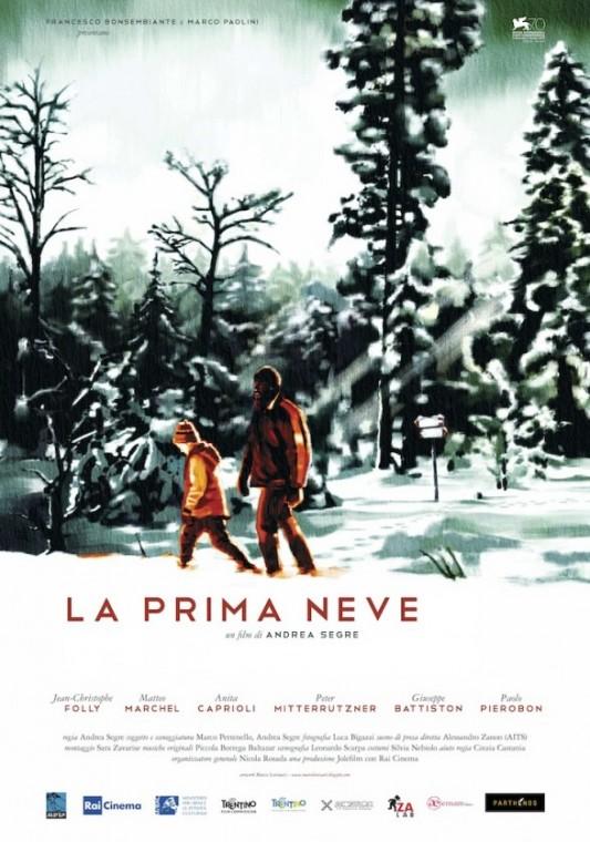 La prima neve (Italia  - 2013). Manifesto di Marco Lovisatti.