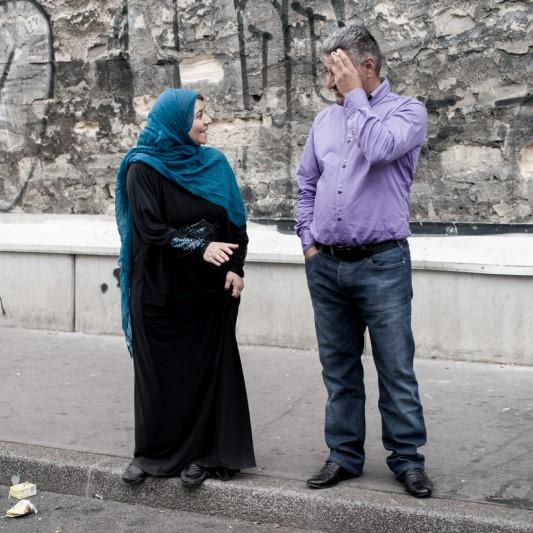 Yahya Khedr et sa femme, Saint-Ouen, 23 avril 2014. Photo: Olivier Favier.