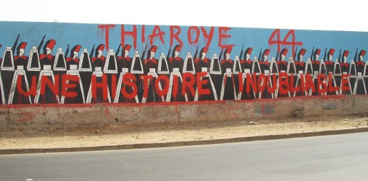 Une peinture murale à Dakar.