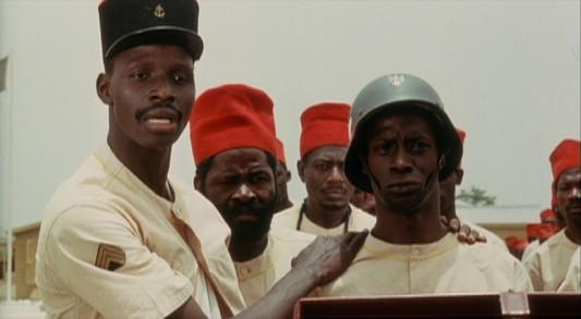 Une image du film d'Ousmane Sembène, Camp de Thiaroye (1988).