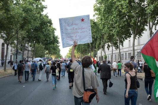 Manifestation pour Gaza du 23 juillet 2014  © Olivier Favier. Reproduction non autorisée.