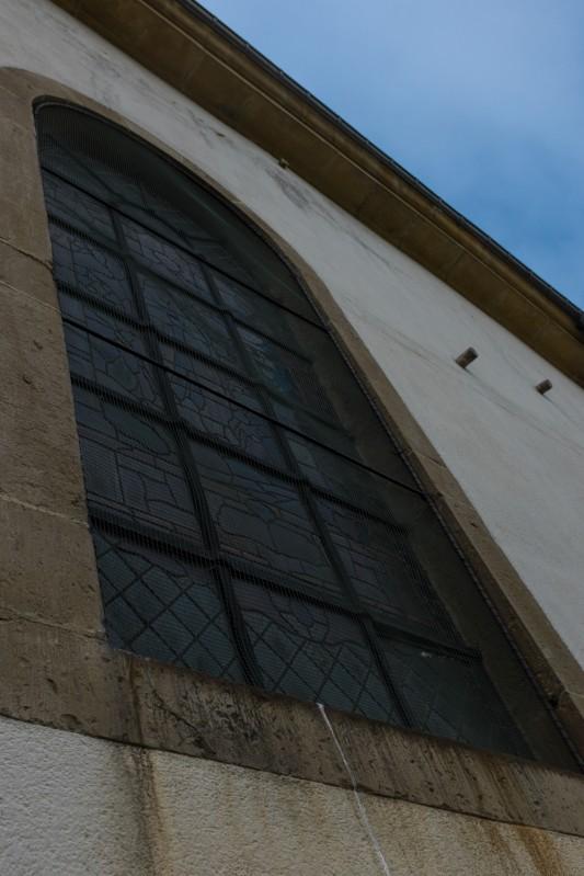 Des obus allemands sont restés fichés dans l'église de Rossignol. Photo: Olivier Favier.
