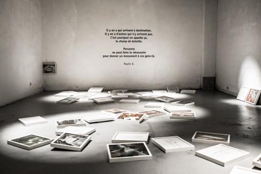 Une vue de l'installation de Laetitia Tura, au sous-sol du Bar Floréal. Photo: Olivier Favier.