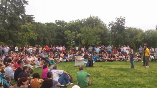 Assemblée de Podemos Córdoba le 5 juin 2014 dans le parc Cruz Conde. © Hedwig Marzolf et Ernesto Ganuza.