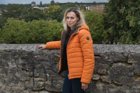 Nadezhda est arrivée en France le 7 juillet 2015. Elle a fait sa demande d'asile avec ses trois enfants 2 octobre 2015 à la Cafda à Paris. Meudon, 6 octobre 2015. Photo: Olivier Favier.