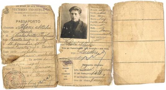 Attilio, mon grand-père, 16 ans en 1924, à son arrivée en France. Photo: Olivier Favier.