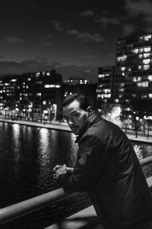 José, Canal de l'Ourcq, Paris, février 2016. Photo: Olivier Favier.