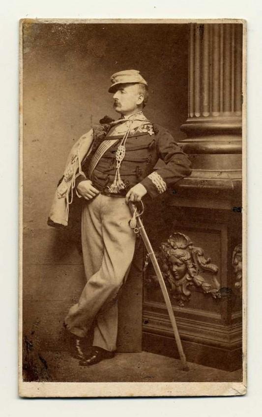 Portrait de Nino Bixio vers 1860. Rome, Museo Centrale del Risorgimento.